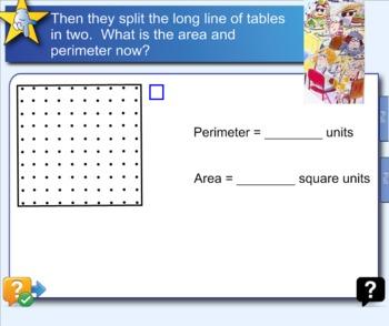 Area and Perimeter Spaghetti and Meatballs for All Lesson CCSS 4.MD.3