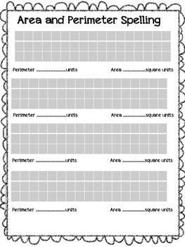 Area and Perimeter Spelling