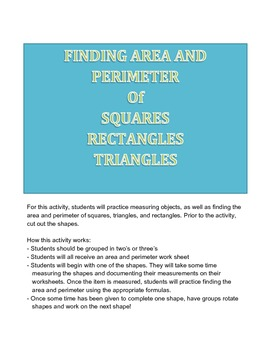 Area and Perimeter Stations Activity