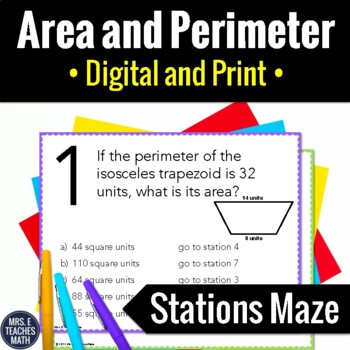 Area and Perimeter Stations Maze Activity