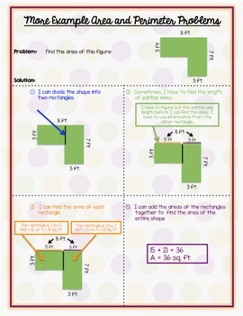 Area and Perimeter Student Resource Poster