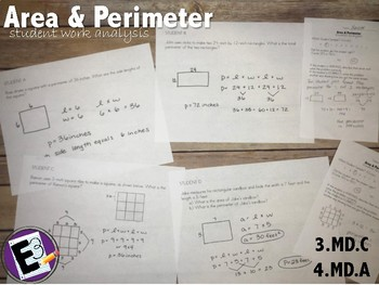 Area and Perimeter - Student Work Analysis