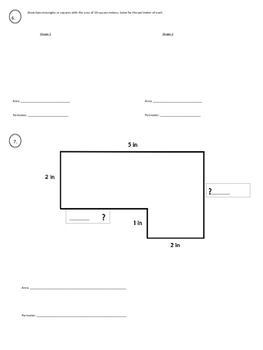 Area and Perimeter Study Guide