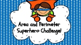 Area and Perimeter Superhero Themed Task Cards