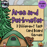 Area and Perimeter Task Card Board Games