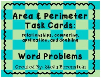 Common Core Aligned: Area and Perimeter Task Cards