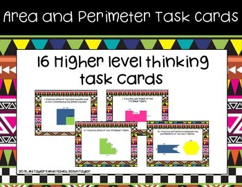 Area and Perimeter Task Cards 4.5D
