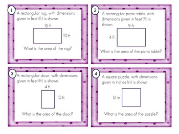 Area and Perimeter Task Cards