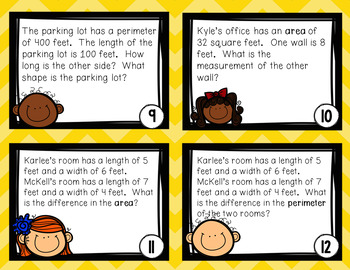 Task Cards- Area and Perimeter