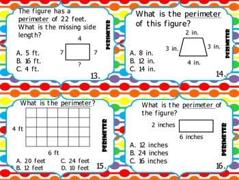 Area and Perimeter Task Cards 3rd Grade