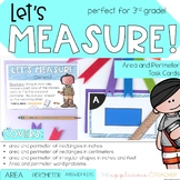 Area and Perimeter Task Cards | Area and Perimeter Word Pr