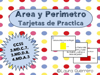 Area and Perimeter Task Cards/ Area y Perimetro Tarjetas d