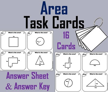 Finding the Area and Perimeter Task Cards/ Solving Area and Perimeter Task Cards