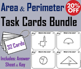 Finding Area and Perimeter Task Cards Bundle