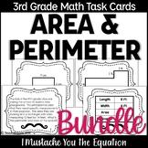 Area and Perimeter Task Cards Bundle