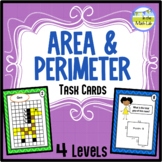 Area and Perimeter  - Task Cards 4 Levels