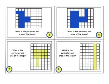 Area and Perimeter Task Cards - Differentiated