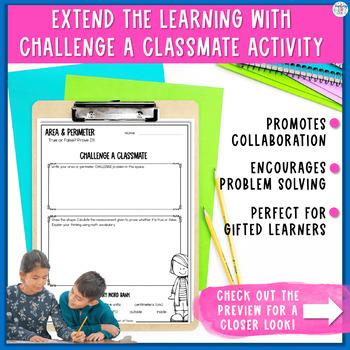 Area and Perimeter Task Cards - Error Analysis