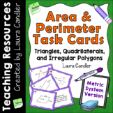 Area and Perimeter Task Cards (Metric Version)