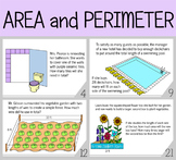 Area and Perimeter Task Cards (Real  Life Situations)
