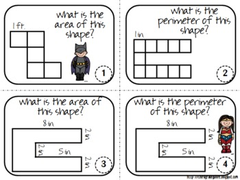 Area and Perimeter Task Cards Set #3