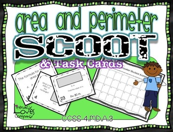Area and Perimeter Task Cards and Scoot