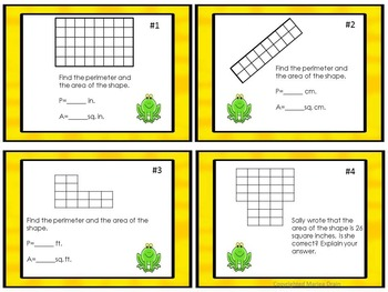 Area and Perimeter: Task Cards and PowerPoint Show
