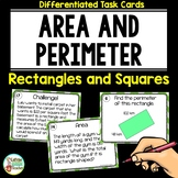 Area and Perimeter Of Rectangles and Squares Differentiated Task Cards