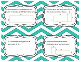 Area and Perimeter Task Cards with Rectilinear Figures