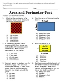 Area and Perimeter Test 4.MD.3
