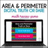 Area and Perimeter Truth or Dare Digital Math Game