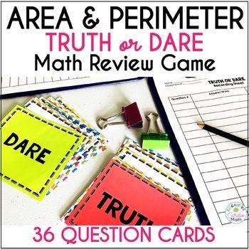 Area and Perimeter Truth or Dare Math Game