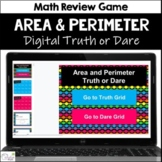 Area and Perimeter Truth or Dare Math Game for Google Classroom