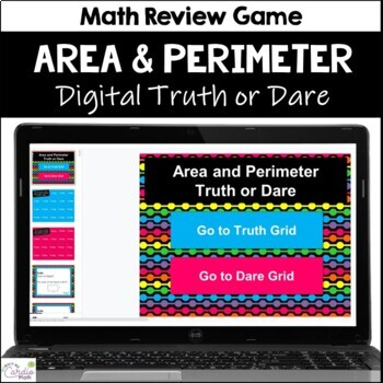 Area and Perimeter Truth or Dare Review Game for Google Classroom