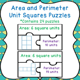 Counting Square Units Area and Perimeter Game Puzzles 3.MD.5 & 3.MD.6