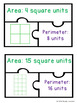 Area and Perimeter Game Unit Squares Puzzles 3.MD.5 & 3.MD.6
