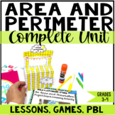 Area and Perimeter Unit with Lessons, Games, and Projects | Common Core