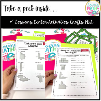 Area and Perimeter Unit with Lessons, Games, and Projects   Common Core