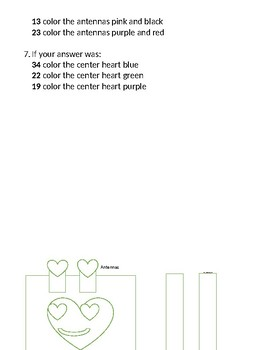 Area and Perimeter Valentine Robot