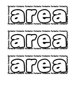 Area and Perimeter Visual