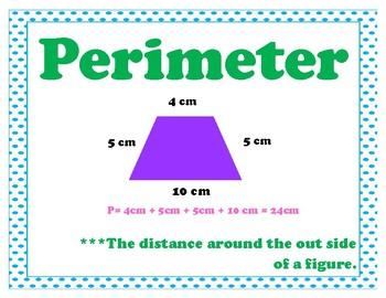 Area and Perimeter Vocab My Math 3rd Grade