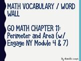 Area and Perimeter Vocabulary