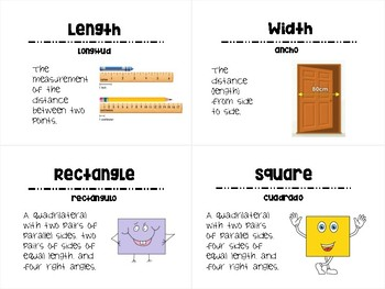 Area and Perimeter Vocabulary