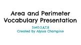 Area and Perimeter Vocabulary Presentation
