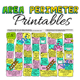 Area and Perimeter WORKSHEETS and GAME!