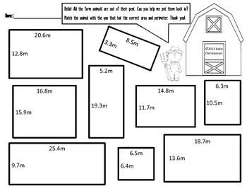 Area and Perimeter With Whole Numbers and Decimals