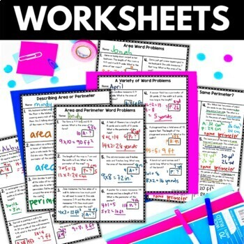 Area and Perimeter Word Problems - Area Perimeter Worksheets Activities Games