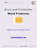 Area and Perimeter Word Problems - 4.MD.3
