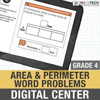 area and perimeter word problems 4th grade digital interactive math center. Black Bedroom Furniture Sets. Home Design Ideas