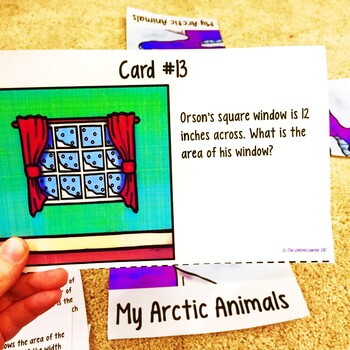 Winter Area and Perimeter Word Problems Game